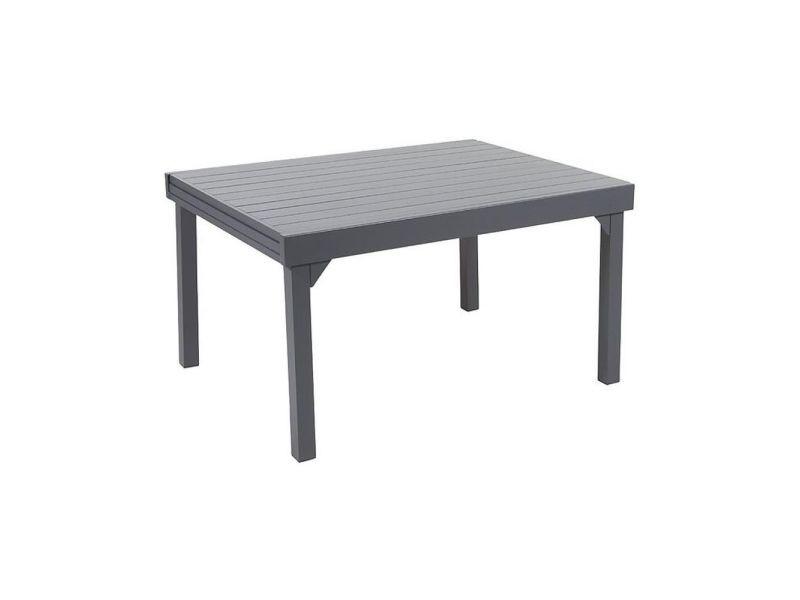 Table jardin full aluminium modulo 135 à 270 cm - Vente de WILSA ...