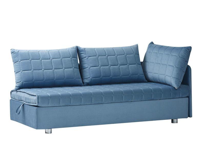 190 Convertible Rangement Turquoise Avec Coloris Canapé Coffre De Cm If76gyvmYb