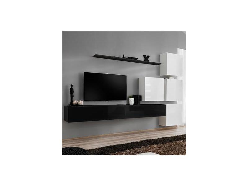 Carte Conforama Suspendu.Meuble Tv Suspendu Noir Et Blanc Rotello 2 Vente De