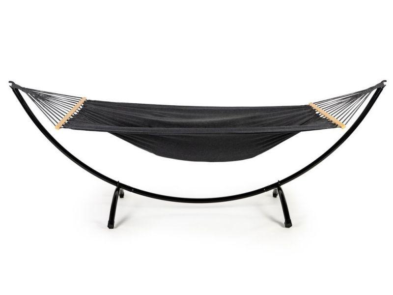 Mstore - hamac sur pied style moderne jardin/terrasse - 103x296x120 - cadre léger - noir