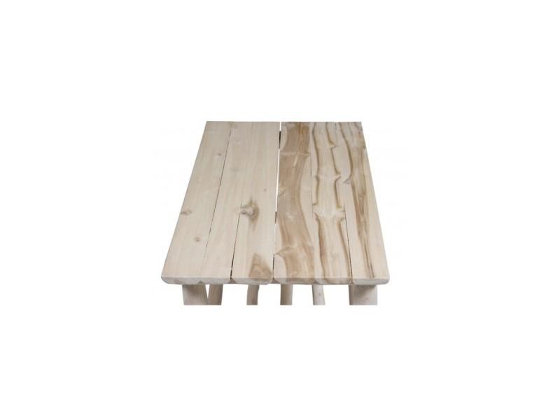Table basse d\'extérieur bois flotté capri - Vente de Salon ...
