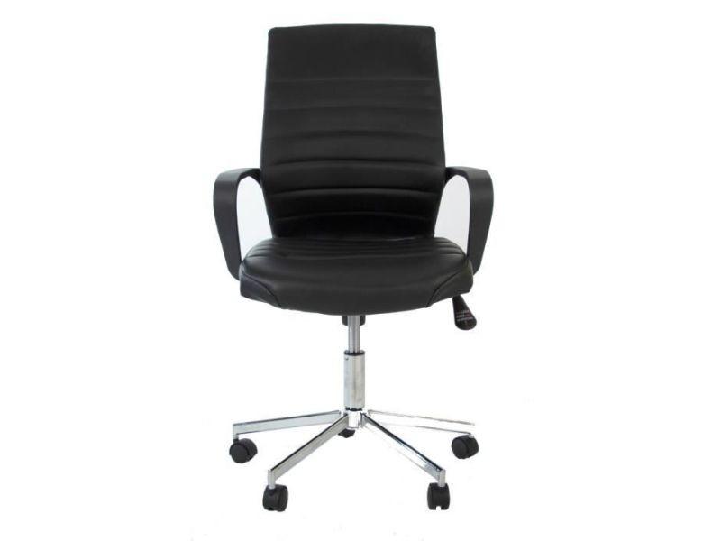 Chaise executive chaise de bureau simili noir - l 59 x p 61 x h 86-96 cm