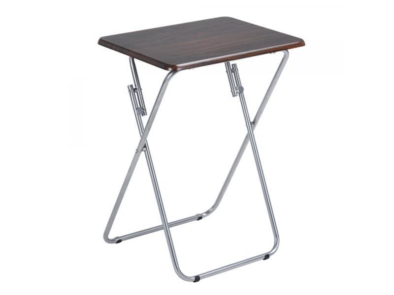 Table d\'appoint pliante en bois et métal - Vente de CALICOSY - Conforama