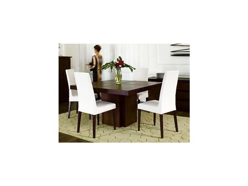 Table repas dusk 130 x 130 cm en bois teintée chocolat 20100827478