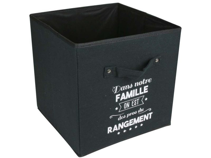 Cube de rangement en tissu famille 30 cm - Vente de IDEBOX - Conforama