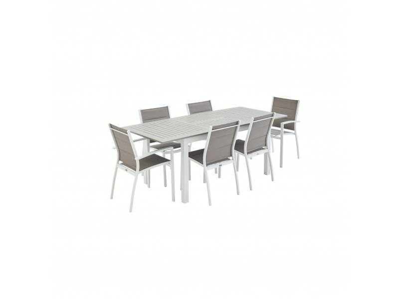 Salon de jardin table extensible - chicago 210 taupe - table ...