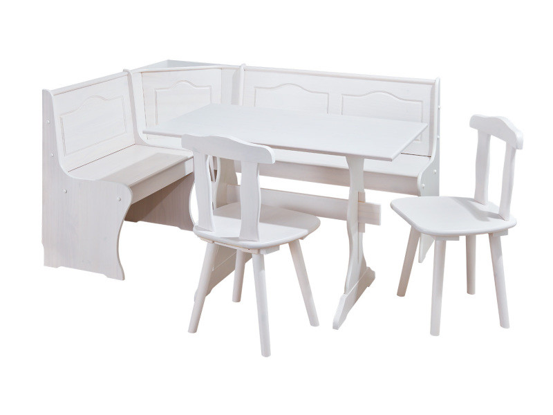 Coin Repas Table Rectangulaire Chaise Banc Banquette Meuble Massif