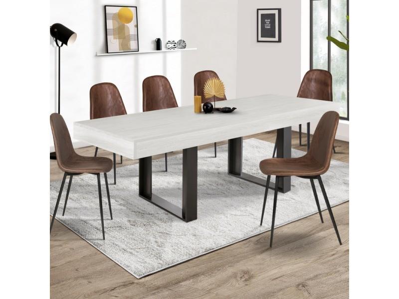 Table à manger phoenix 224 cm bois gris