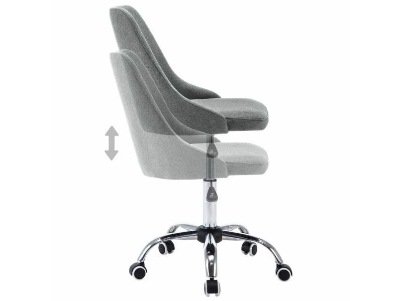 Vidaxl chaises de salle à manger 4 pcs gris clair tissu