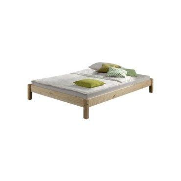 Lit futon simple pour adulte taifun 120 x 200 cm, 1 personne, 1 place et demi, pin massif vernis naturel