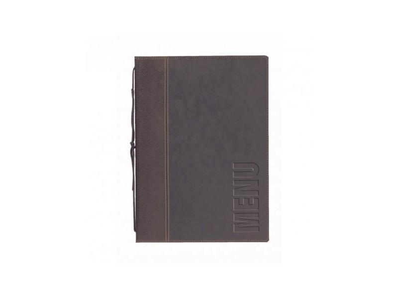 Protège-menus contemporain en cuir - format a4 -
