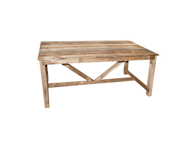 Table de jardin en bois normand 6/8 places - Vente de CEMONJARDIN ...