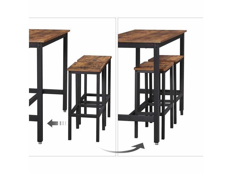 de 2 chaises avec haute de Lot table et bartable tabourets Fl1c3uJT5K