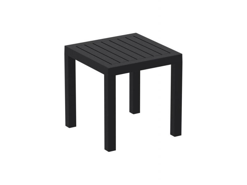 Petite table de jardin en plastique noir résistante aux intempéries ...