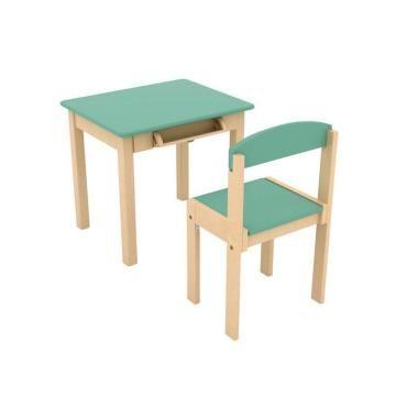 Chaise Bois De En Vert Enfant And Avec Rouleau Table Papier 0k8wOnP