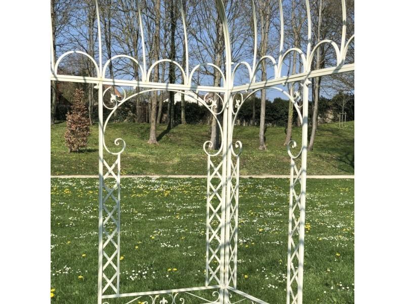 Gloriette tonnelle en fer de jardin ronde blanche ø250 cm ...