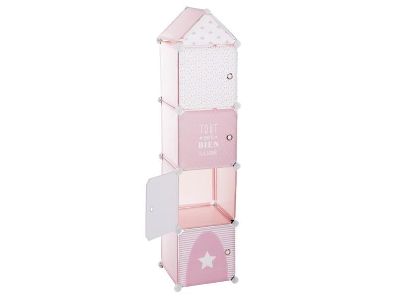 tour de rangement colonne rose vente de atmosphera for. Black Bedroom Furniture Sets. Home Design Ideas