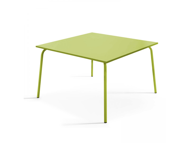 Table de jardin carrée en métal, palavas - Vente de Table ...
