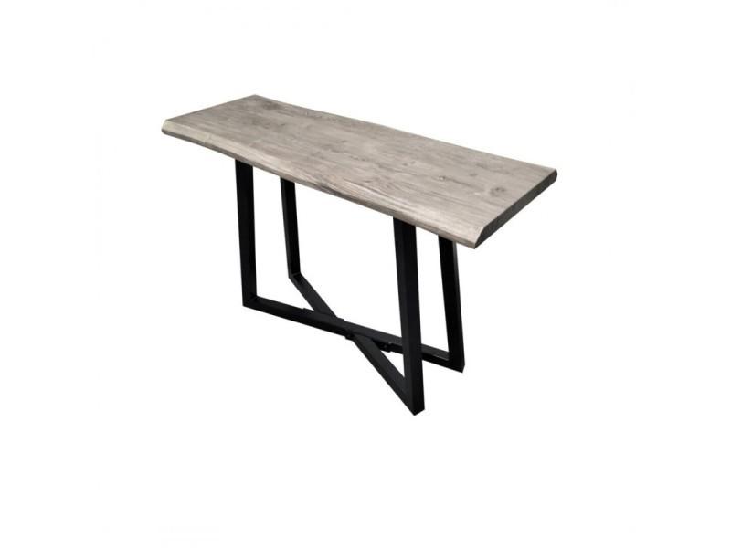 Alexus console en bois gris 412056