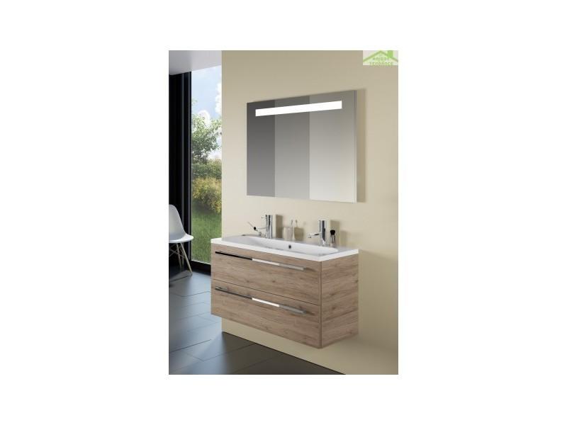 Ensemble meuble & lavabo riho cambio stretto set 12 100x38x h 58 cm - bois laqué brillant FSR100Z01DDDS12