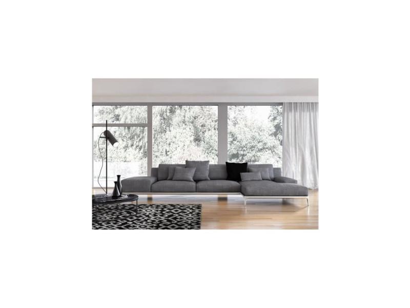 Tapis de salon ethnique toscane noir et gris 160x230cm ...