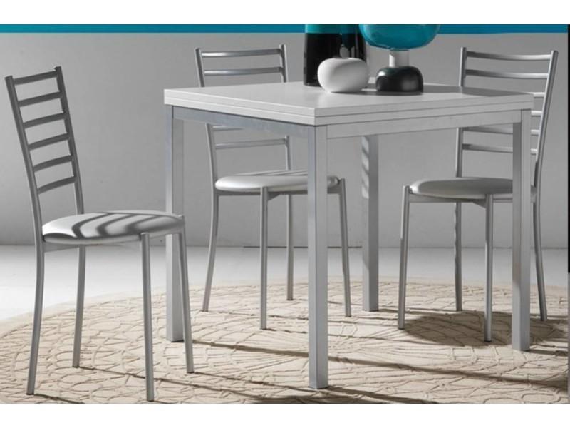 Table repas extensible web design 80*160/80 cm blanche 20100850733