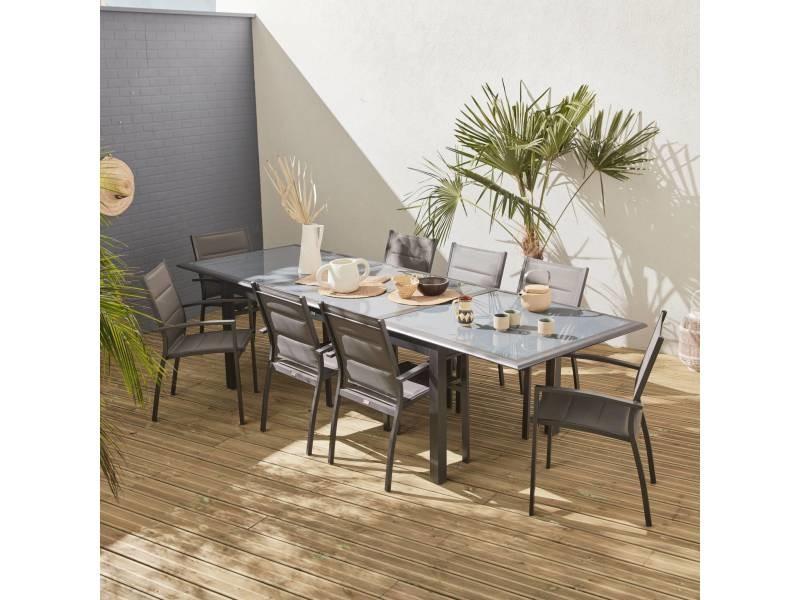 Salon de jardin table extensible - philadelphie gris ...