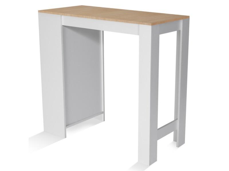 Ameublement Et Decoration Idmarket Table De Bar Barth 2 A 4