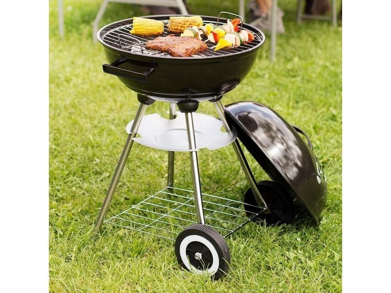 Barbecues charbon de bois contemporain barbecue rond avec ...