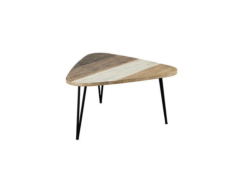 acacia Vente Table goutte danube et basse métal en d'eau TluFK1J53c