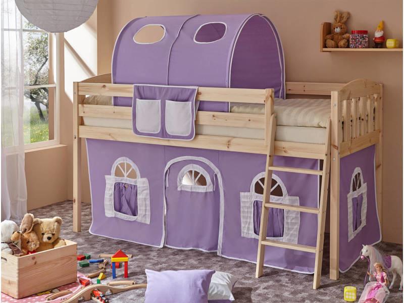 Lit mezzanine - lit tunnel - lit enfant - lit cabane - bois massif ...
