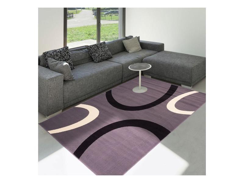Tapis grand dimensions premier prix tempo gris 160 x 225 cm tapis de ...