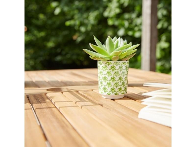 Table de jardin carrée en bois d\'acacia fsc - Vente de Salon ...