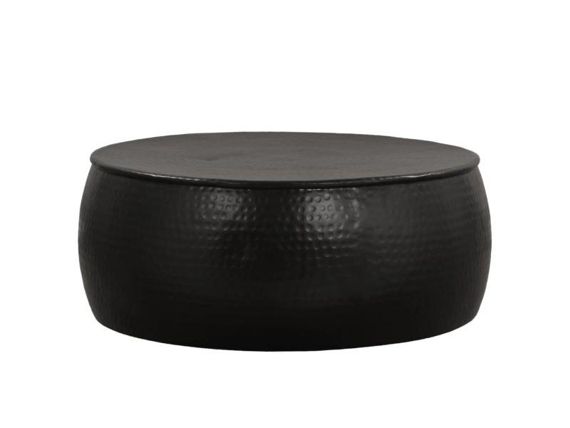 Vidaxl table basse aluminium martelé 70 x 30 cm noir 246511