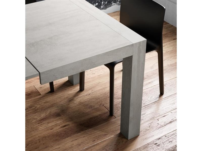 Mobili fiver, table extensible cuisine, iacopo, frêne blanc, made in ...