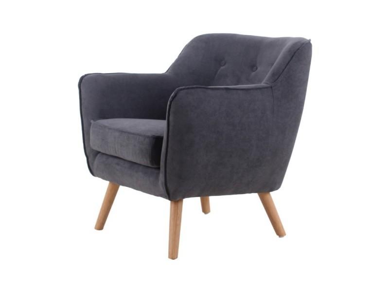 Bristol fauteuil en suédine gris anthracite 434867