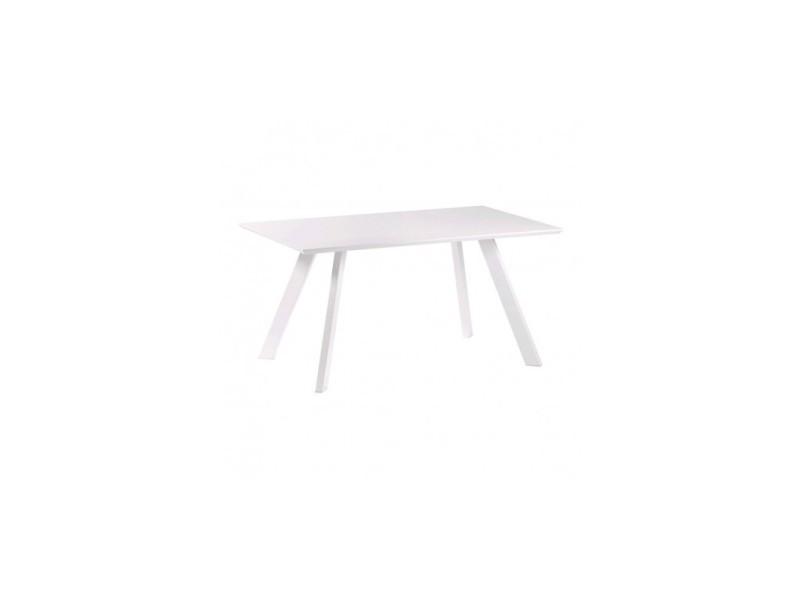 Table à manger laqué blanc 150 cm impossible