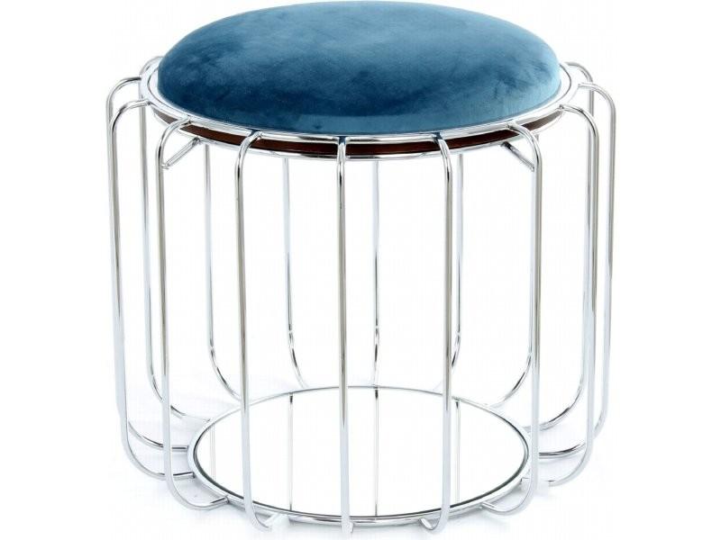 Pouf reverse table d'appoint confortable silver JXYCP