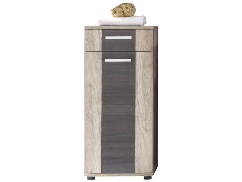 Armoire de rangement pour salle de bain 90 cm à 1 porte et ...