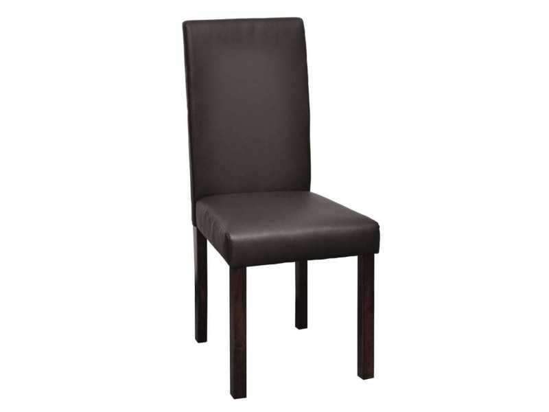 vidaxl chaises de salle à manger 4 pcs marron similicuir