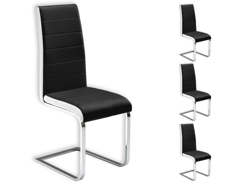 Lot de 4 chaises de salle manger evelyn pi tement chrom - Conforama chaises salle a manger ...