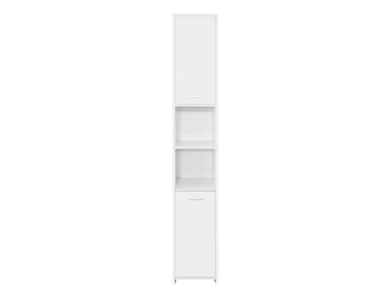 Ml-design armoire de salle de bains blanche, 30x190x30 cm, en mdf 490001608