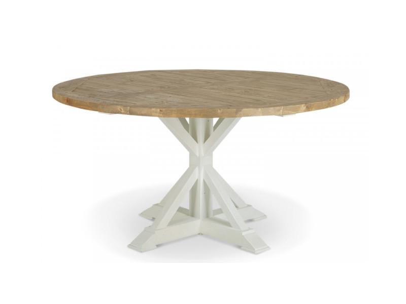 Table Ronde Bois Blanc Cesure 150cm Decoration D Autrefois