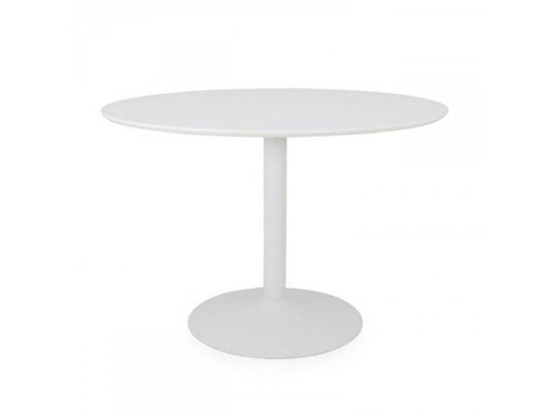 Table à manger ronde 110cm plateau bois pied métal boulbi 9003210910