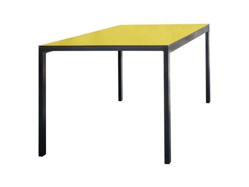 Table de jardin rectangulaire cora en aluminium et plateau en hpl ...