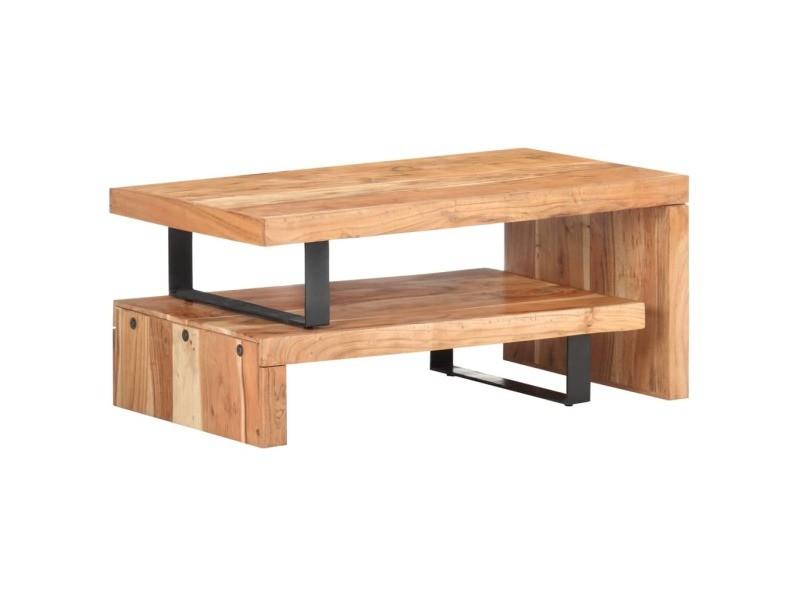 Vidaxl ensemble de 2 tables basses bois d'acacia massif 320394