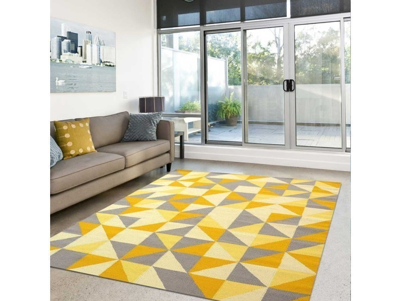 Tapis grand dimensions scandivian jaune 80 x 150 cm tapis de ...