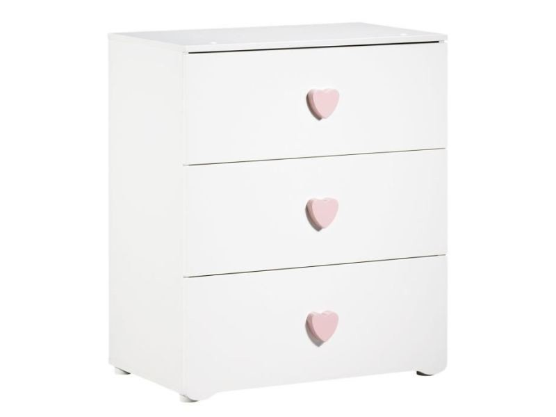 Charmant Table   Commode   Plan A Langer New Basic Commode A Langer 3 Tiroirs    Boutons Coeur Rose