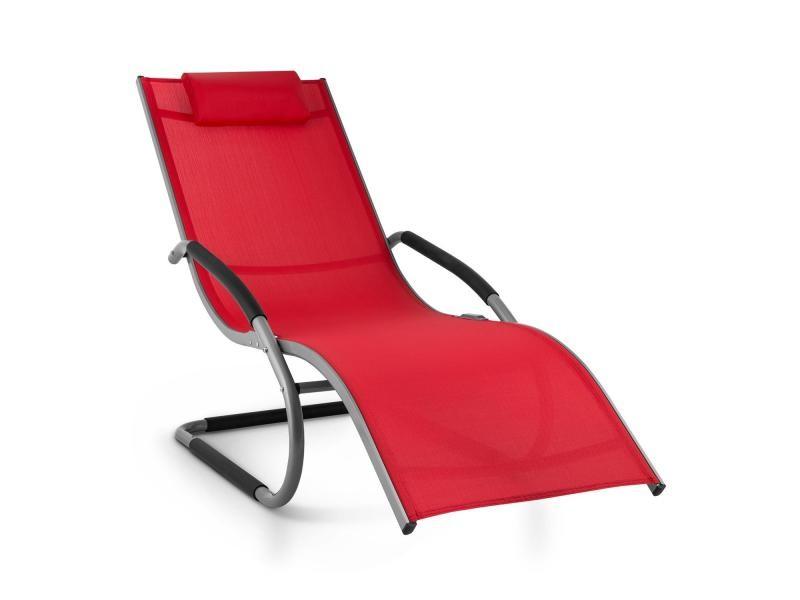 Sunwave Chaise Rouge Transat Aluminium Blumfeldt Longue Relax 8k0PNXnwOZ