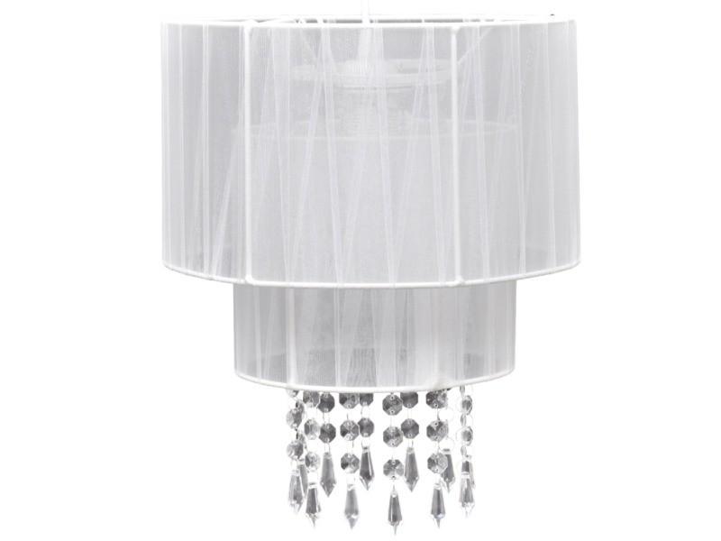 lustre plafonnier suspendu lampe moderne cristal blanc 33. Black Bedroom Furniture Sets. Home Design Ideas